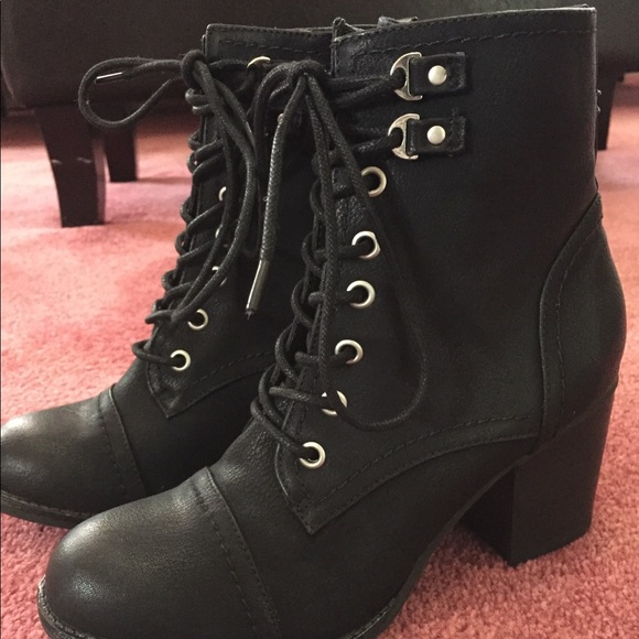Madden Girl Lace Up Booties   Poshmark